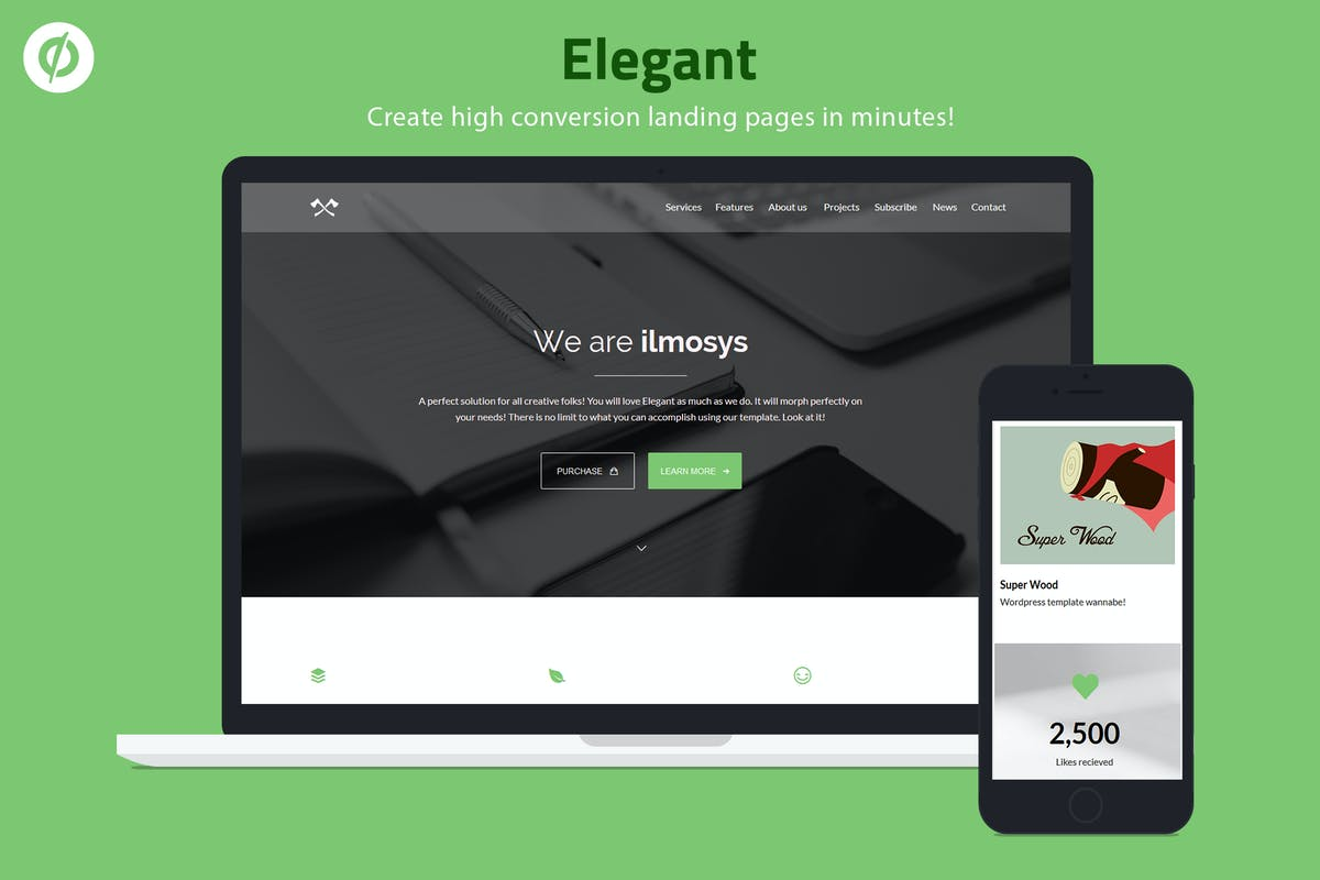 Download Elegant - Minimal Unbounce Landing Page by ILMThemes by Unknow