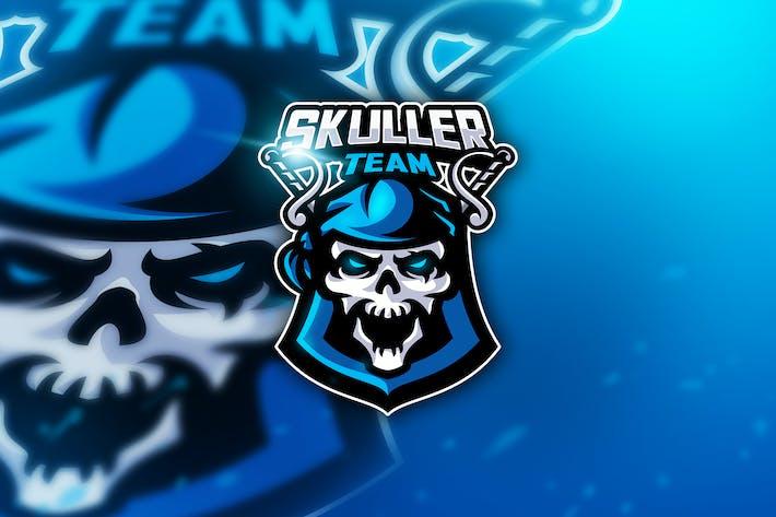 Thumbnail for Skuller Team - Mascot & Esport Logo