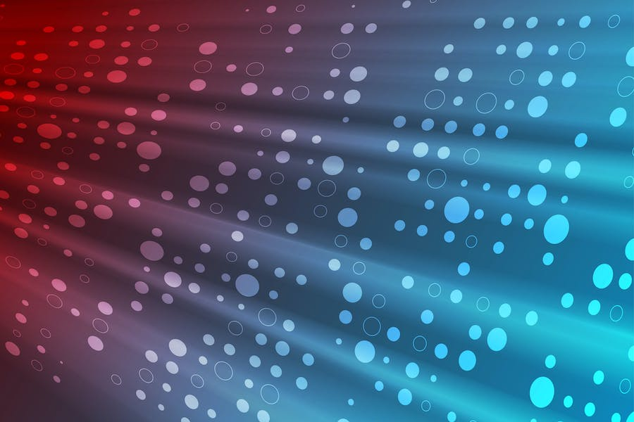 Red and blue shiny tech abstract background