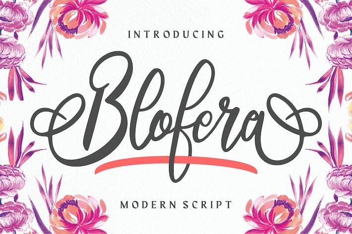 Thumbnail for Blofera   Fuente de escritura moderna