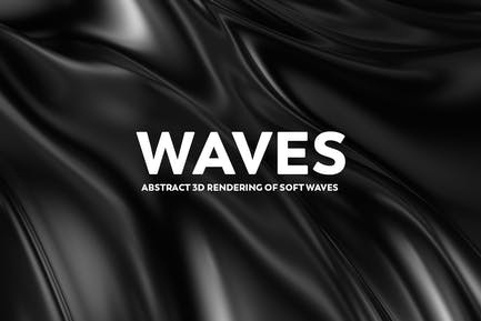 Abstract 3d Rendering of Soft Waves