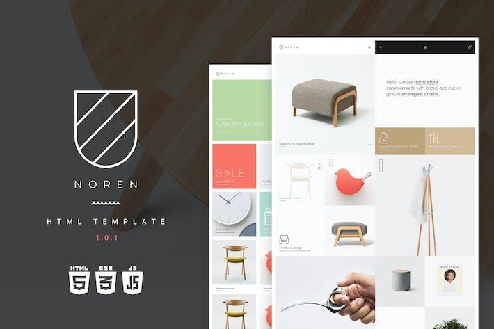 Thumbnail for Noren | Multi Store Responsive HTML Template