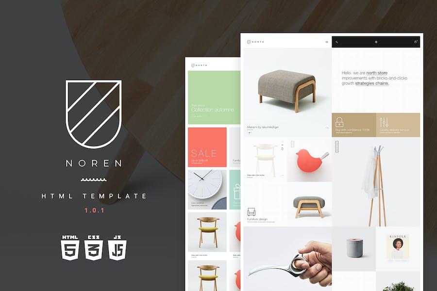 Noren | Multi Store Responsive HTML Template