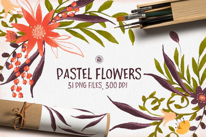 Thumbnail for Pastel Flowers