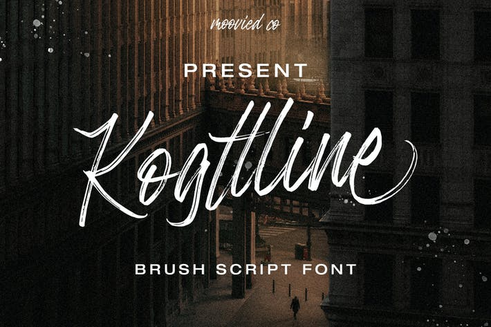 Thumbnail for Kogttline Brush Font