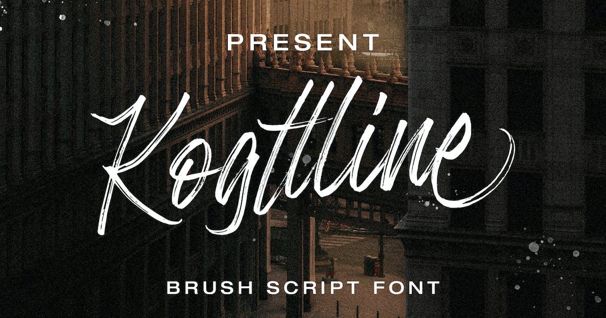 Download Kogttline Brush Font by templatehere