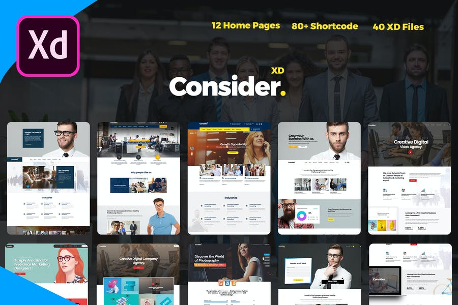 Consider - Consulting, Business Agency XD Template