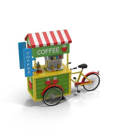Bicicleta de Café de dibujos animados