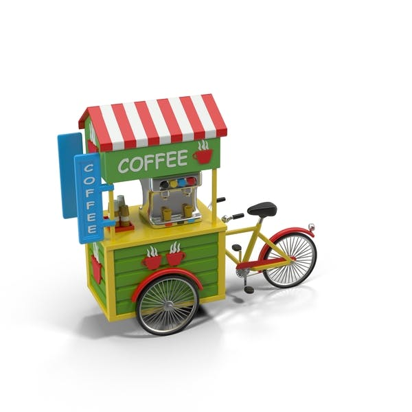 Thumbnail for Cartoon Coffee Bicycle