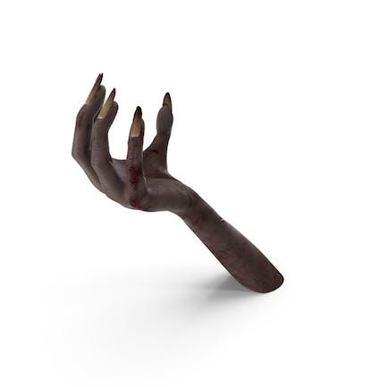 Dark Creature Hand Upwards Object Hold Pose