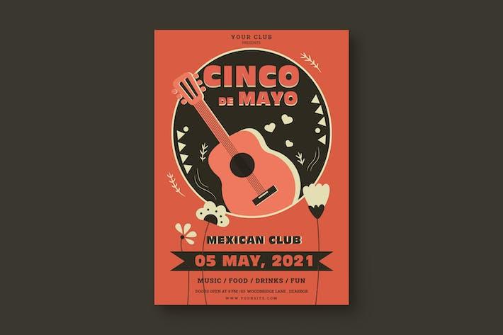 Cinco de Mayo Celebration Poster Template