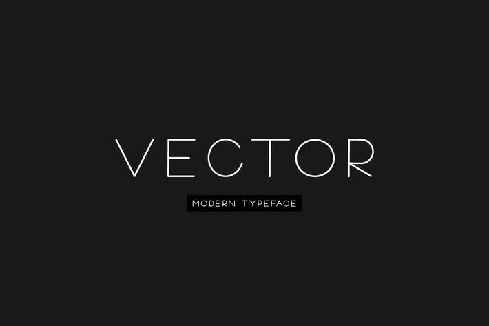 Cover Image For VECTOR - Minimal & Modern Typeface