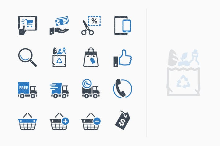 Thumbnail for E-commerce Icons Set 4 - Blue Series