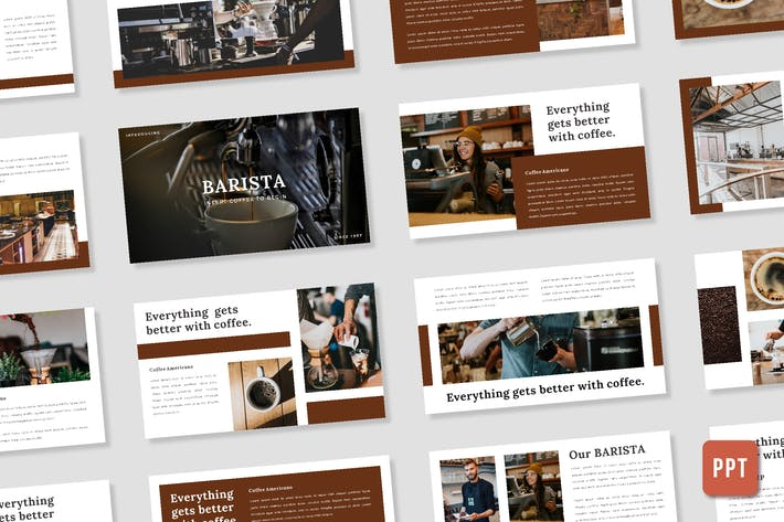 Thumbnail for Barista Presentation Template - (PPT)