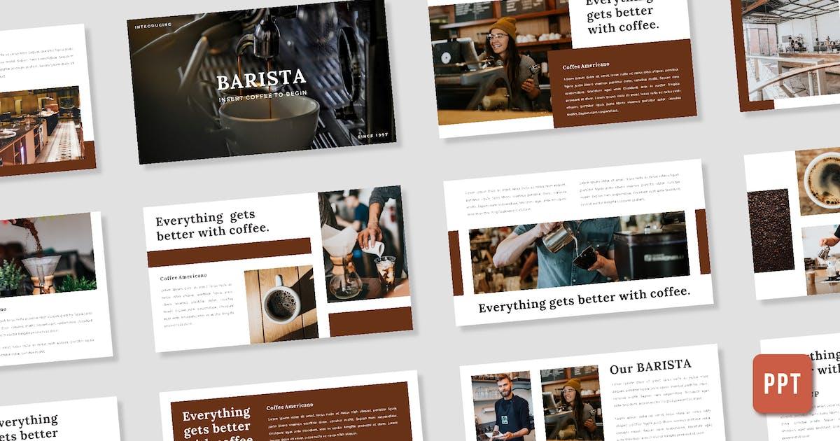 Download Barista Presentation Template - (PPT) by deemakdaksinas