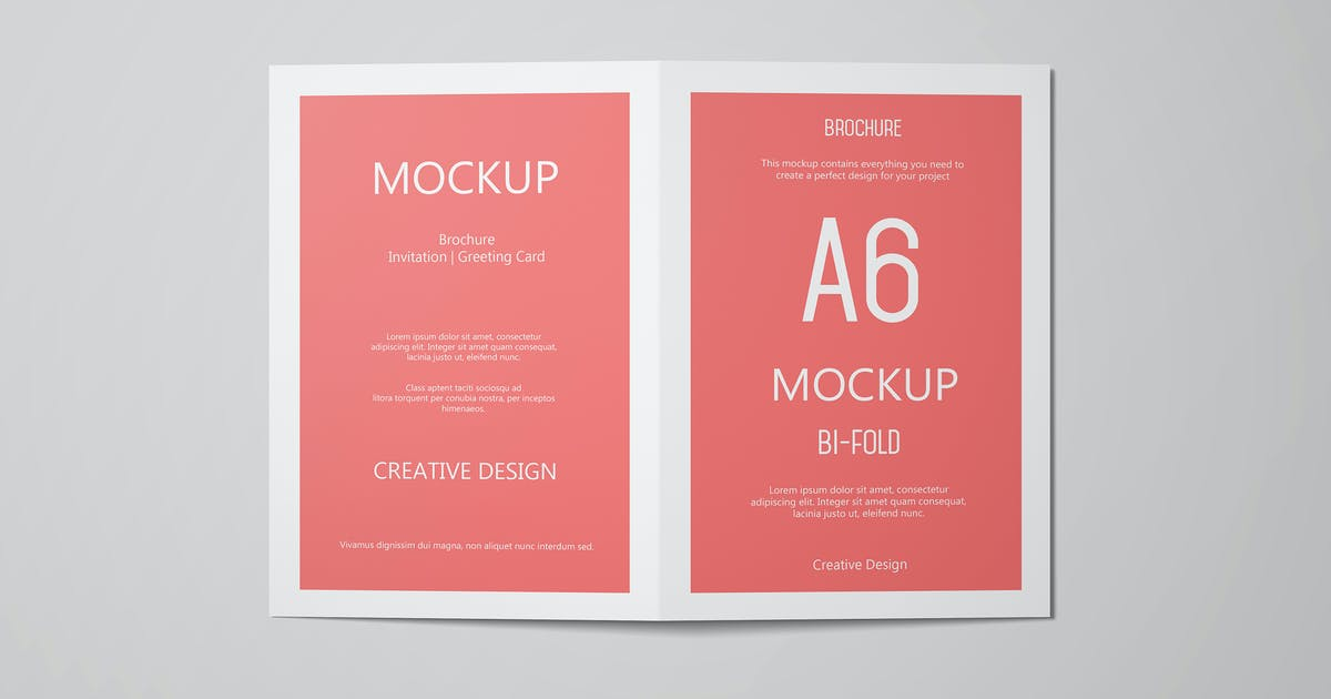 A6 Portrait Greeting Card Invitation Mockup Set 1 by professorinc