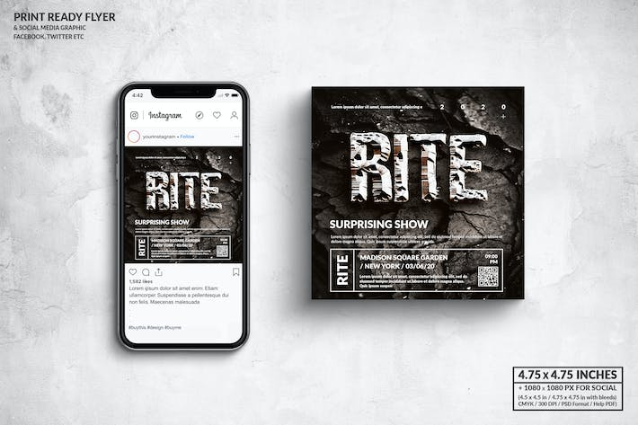 Thumbnail for Rite Music Square Flyer & Social Media