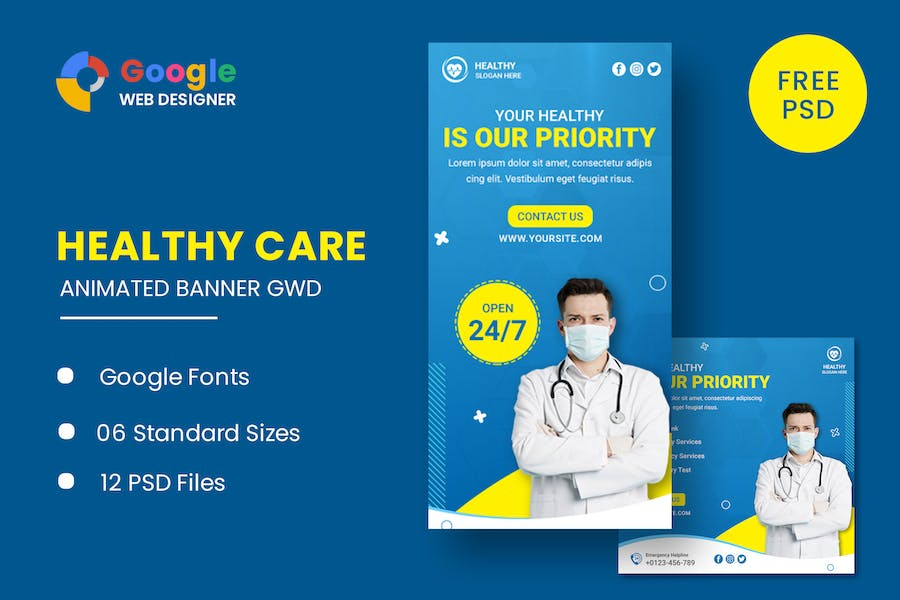Healthy Care Animated Banner GWD