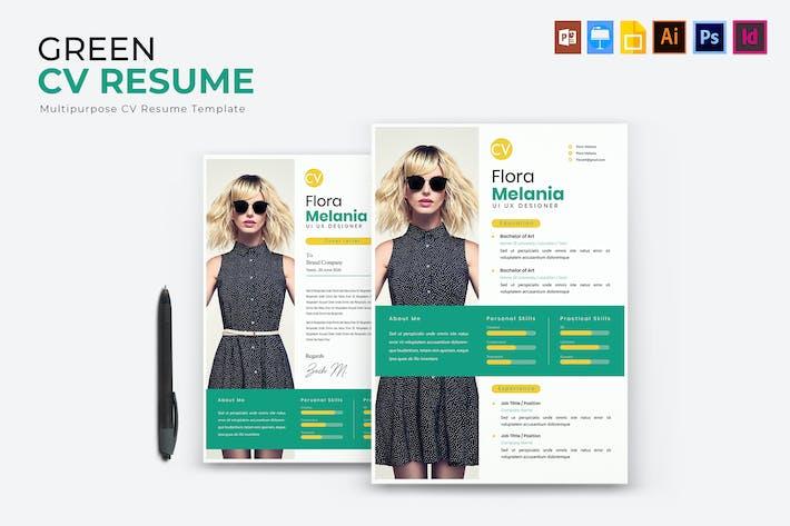 Thumbnail for Green | CV & Resume