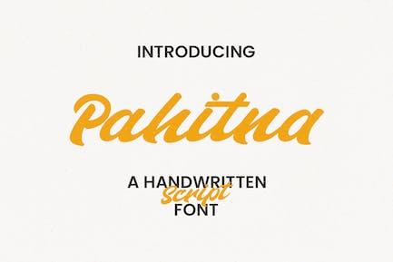Pahitna Handwritten Script Font