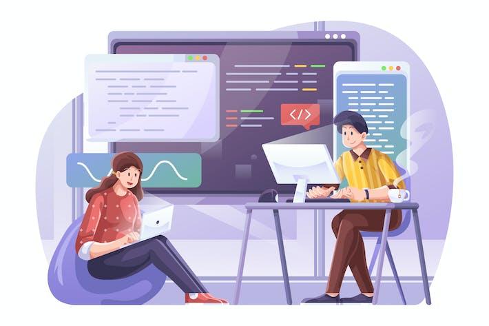 Programmierung von Illu