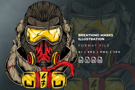 Breathing Mask Illustration