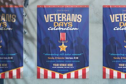 US Veterans Day Celebration Flyer