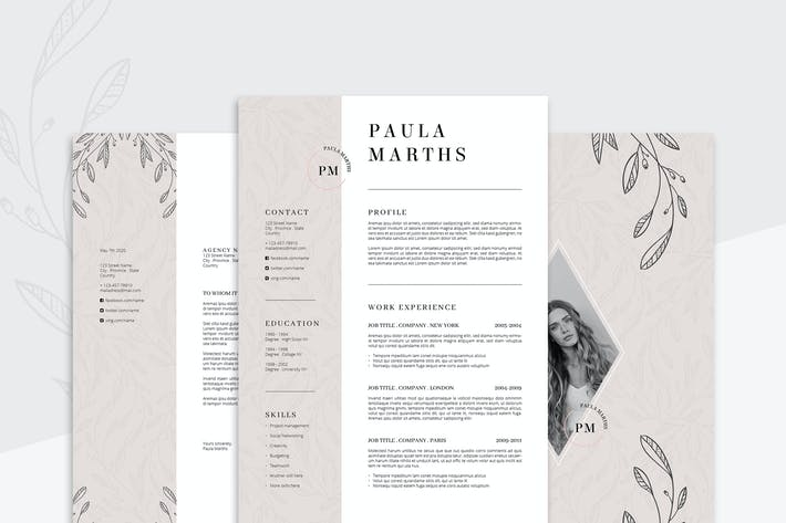 Thumbnail for FLORAL Resume/CV + Cover Letter