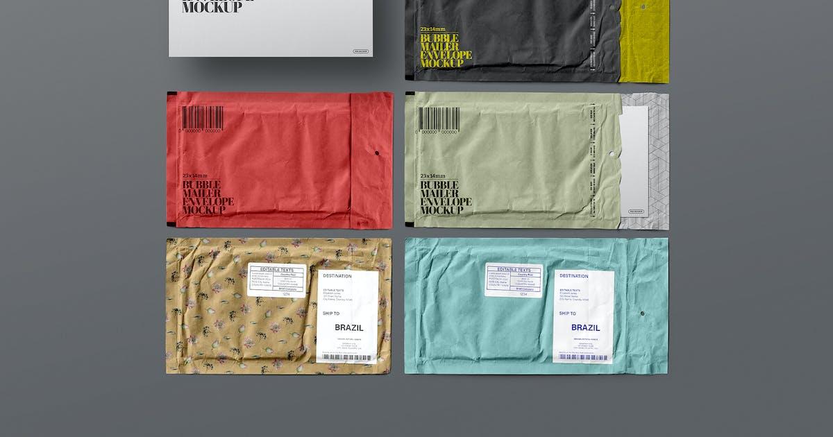 Download Bubble Mailer Mockup Envelope Set by Easybrandz-AvelinaStudio