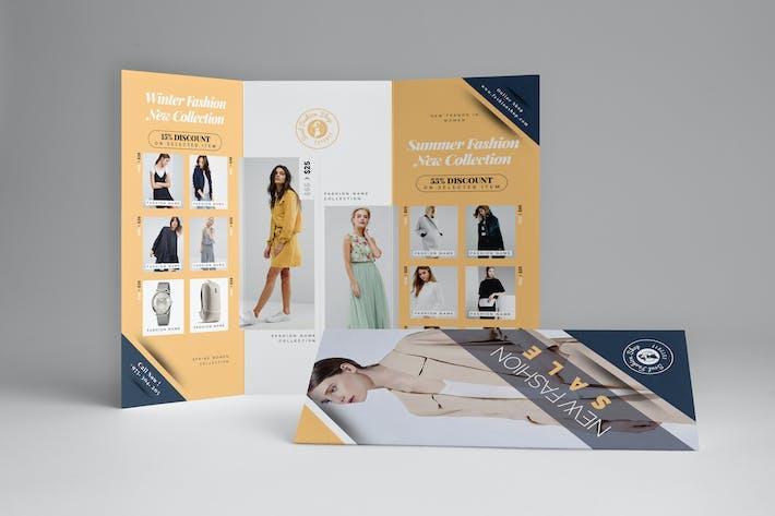 Thumbnail for Fashion Sale Trifold Brochure