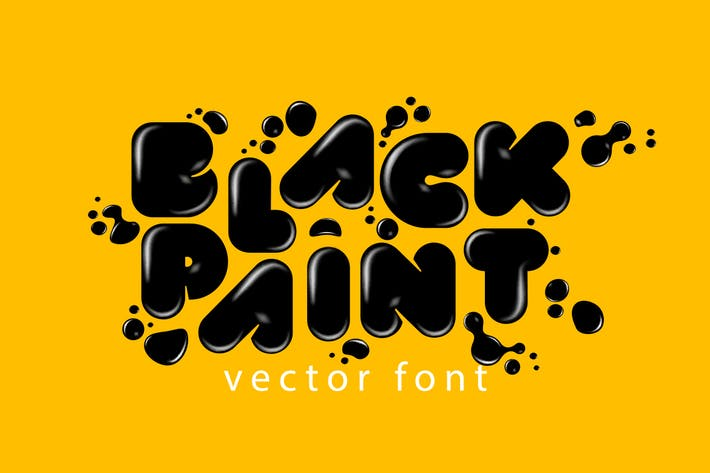 Thumbnail for Black Paint Vector Font