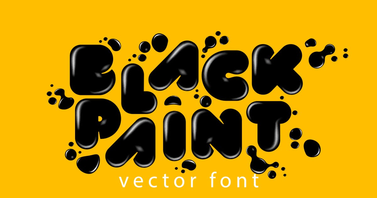 Download Black Paint Vector Font by Sentavio