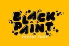 Black Paint Vector Font
