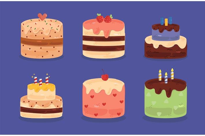 Ilustración Deliciosa de cumpleaños