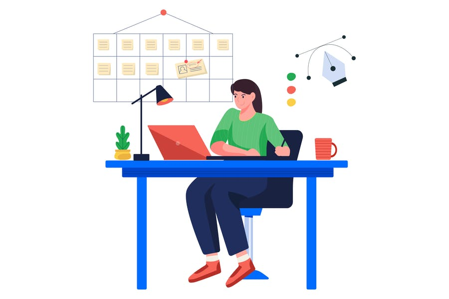 Designer is Designing Illustrations
