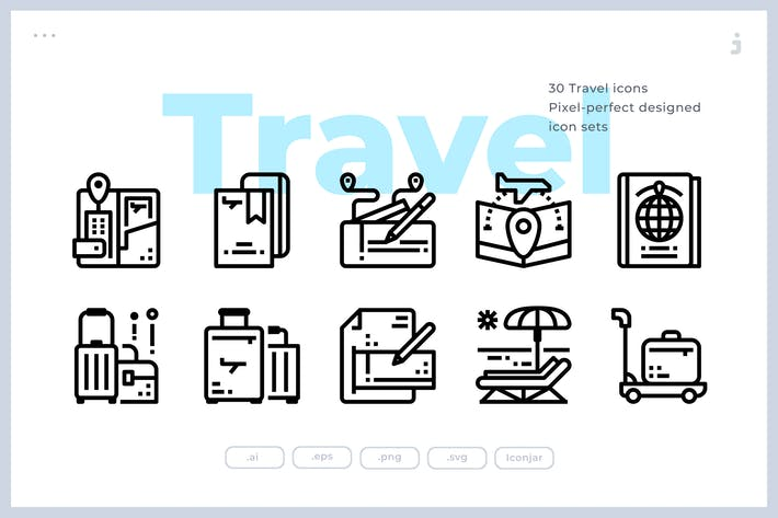 Thumbnail for 30 Travel Icons