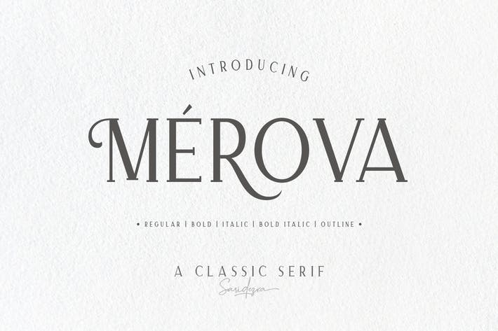 Thumbnail for Merova - Classic Serif (5 Fonts)