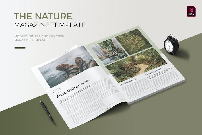Thumbnail for Nature   Modèle de magazine