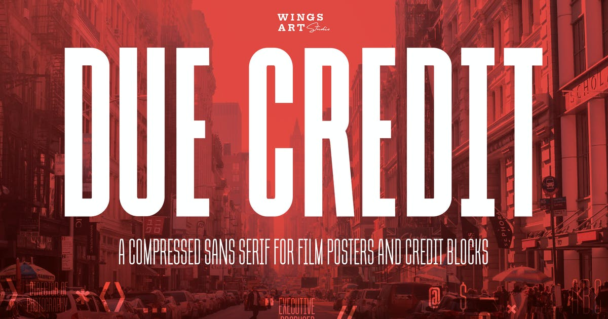 Download Due Credit: The Film Designer's Font by wingsart