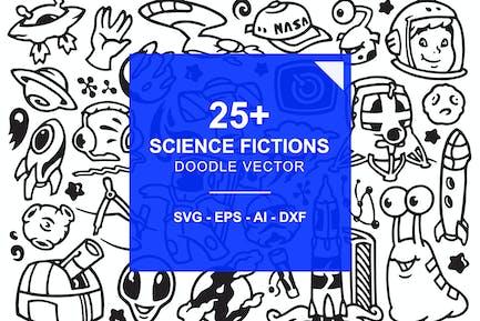 Научная фантастика Doodles