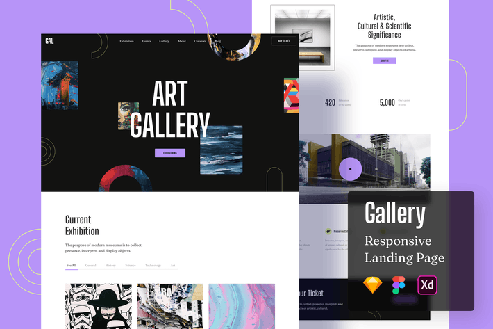 Gallery Responsive Landing Page