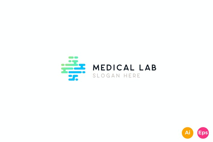 Thumbnail for Medical Healthcare Lab Logo Template