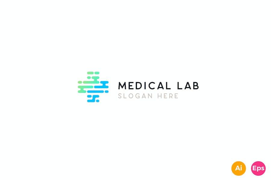 Medical Healthcare Lab Logo Template