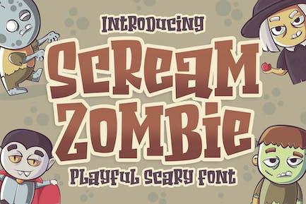Scream Zombie - Hallowen Horror Business Font