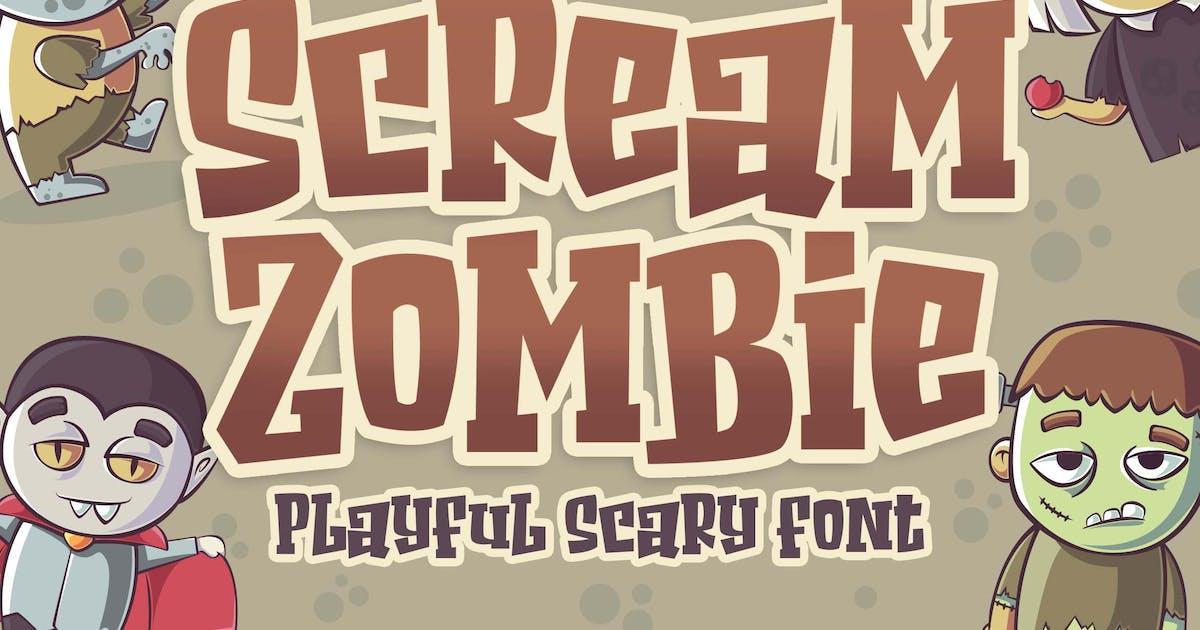 Download Scream Zombie - Hallowen Horror Business Font by Blankids