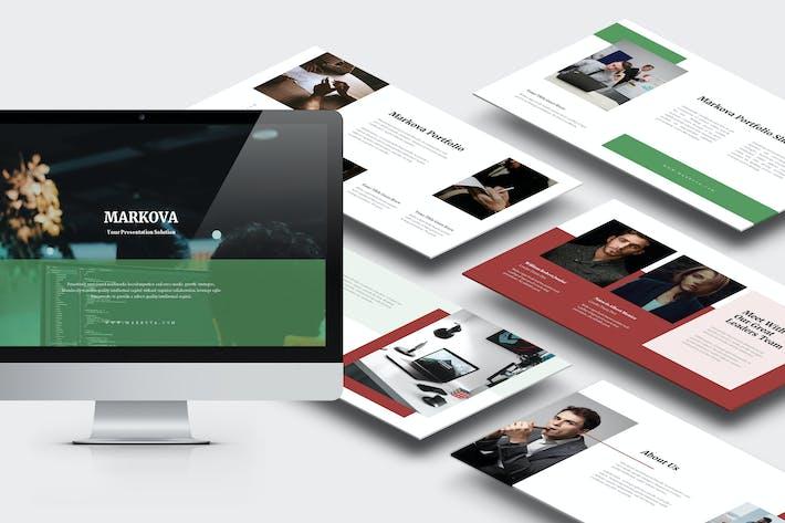 Thumbnail for Markova : Business Lookbook Style Powerpoint