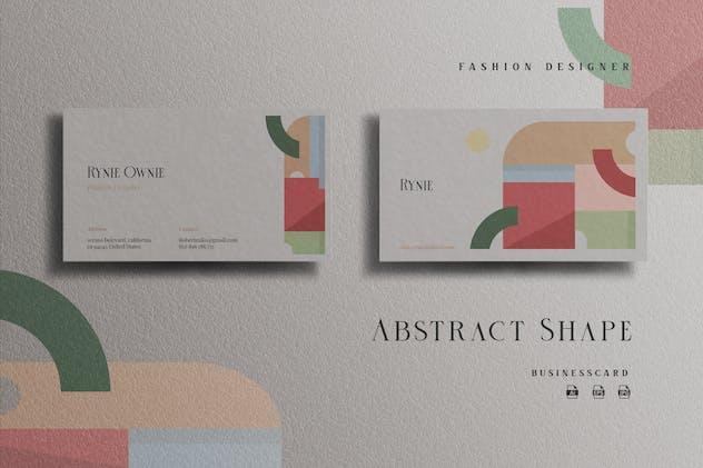 Minimalist Abstract Fashion Designer -Businesscard
