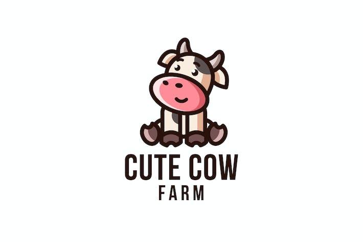Thumbnail for Cute Cow Farm Logo Template