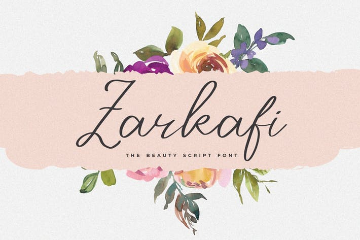 Thumbnail for Zarkafi - The Beauty Script Font