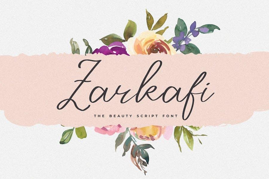 Zarkafi - La police de script de beauté